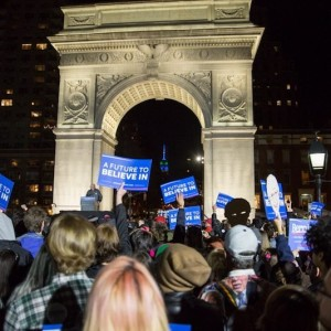 Washington Square Park Perfect Backdrop for Sanders Rally as New York Times Dramatically Downplays Crowd Size | Photos
