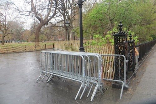 French Barricades at Washington Square Park