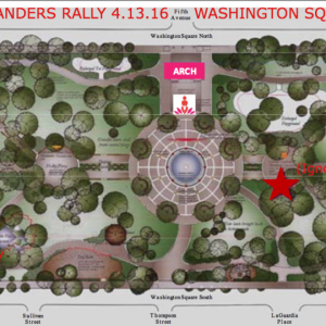 Washington Square Park Map Bernie Sanders Rally