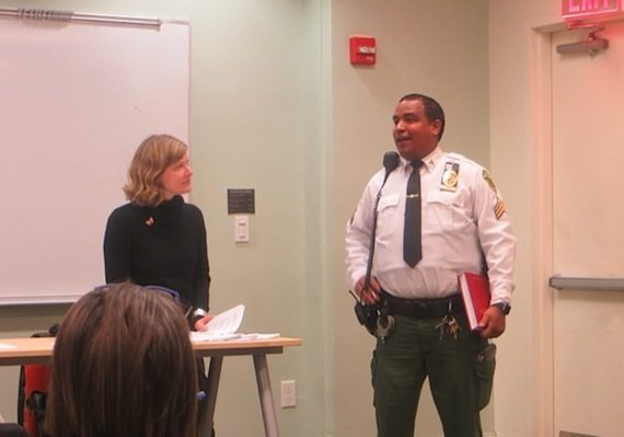 Park Administrator Sarah Neilson; Step Up Sergeant Rivera, Washington Square Park