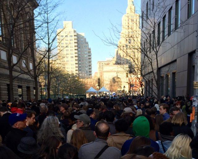 Bernie Sanders Washington Square Park Rally