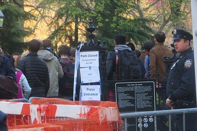Washington Square Park Closed Bernie Sanders Rally