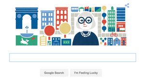 Google Home Page May 4 Jane Jacobs Birthday