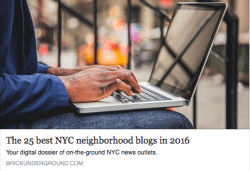 Brick Underground Best NYC Neighborhood Blogs 2016