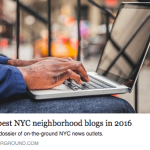 "WSP Blog Named One of ""25 Best NYC Neighborhood Blogs 2016"" in Brick Underground's Annual List"