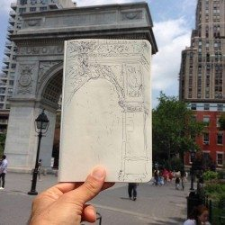 Arch Washington Square Park illustration photo