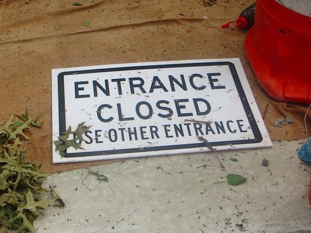 entrance closed washington square park