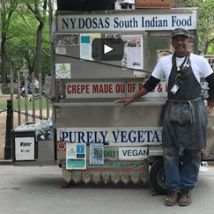 15 Year Park Veteran: NY Dosas, Washington Square Park's Award-winning Vegan Food Cart Featured in New Video