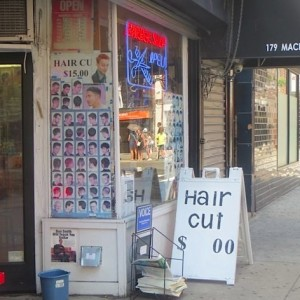 Old-Fashioned Barber Shop Still Exists in Greenwich Village: Hair Cut $ .00 ? (Not Quite, but Still Cheap)