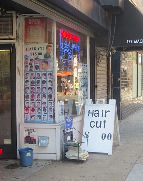 Hair Cut MacDougal Street Sign Zero Dollars