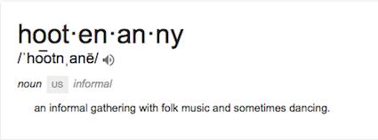 hootenanny definition