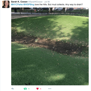 "Mounds Join Dead Fountain Trees With Drainage Issues at Park | Winter: Bring Back the ""Temporary Sledding Structures"" Idea?"