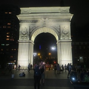 Arch Washington Square Park at Night