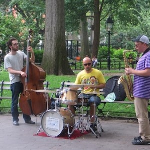 Music At Washington Square Park Greenwich Village NYC