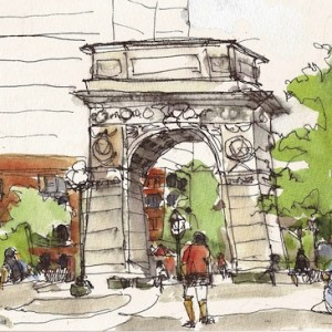 sketch washington square park arch