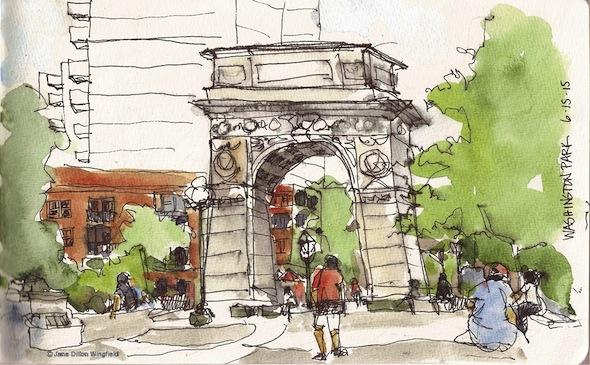 sketch washington square park arch