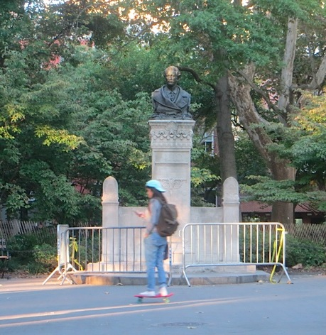 alexander-holley-statue-skateboarder-washington-square-park