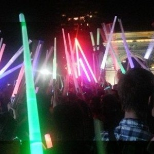 Light Sabers Amidst the Arch Washington Square Park
