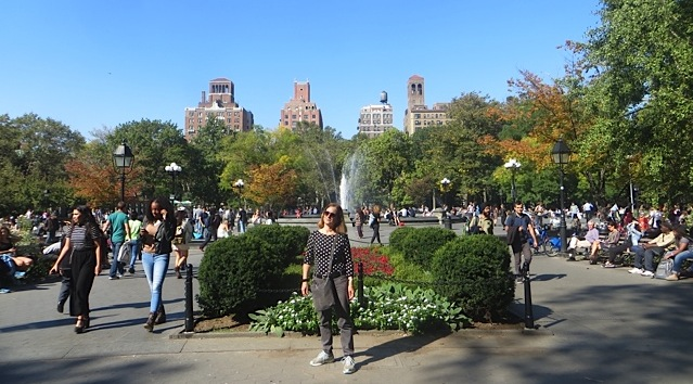 Washington Square Park looking west fountain