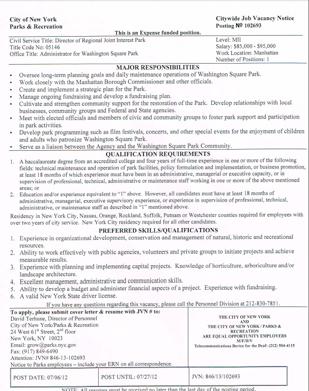administrator-washington-square-park-nyc-parks-job-posting-2012