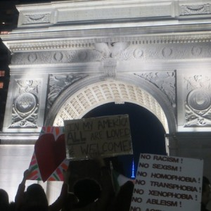 "Love Trumps Hate at Washington Square ""Love Rally in the Park"" (Photos)"