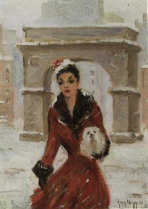 stroll_in_washington_square_1950_guy_carleton_wiggins_1