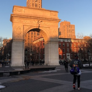 washington square park arch winter