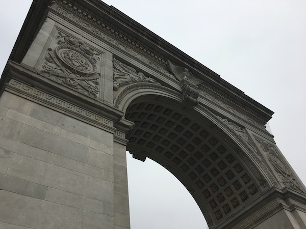 Washington Square Park Arch Close Up