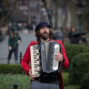 Busker in Washington Square