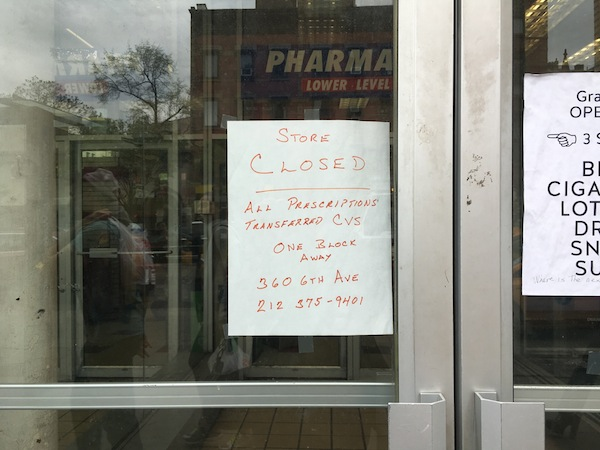 Duane Reade Closed