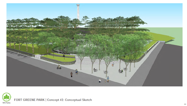fort greene park proposed plan