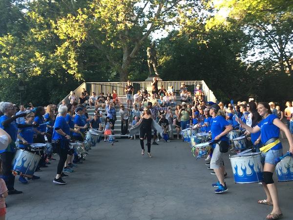 fogo azul drummers washington square park 1