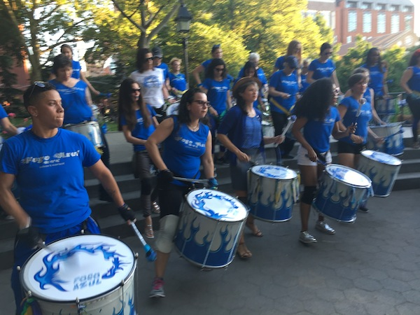 fogo azul drummers washington square park summer 2