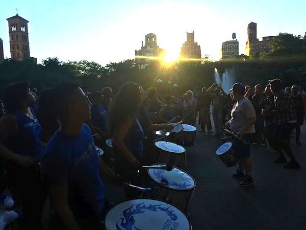 fogo azul washington square park summer 4