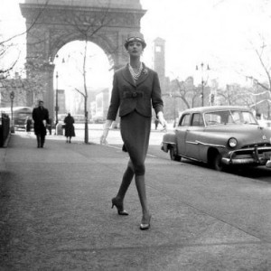 The Arch as Fashion Accessory: Model Simone d'Aillencourt for Charm Magazine 1950