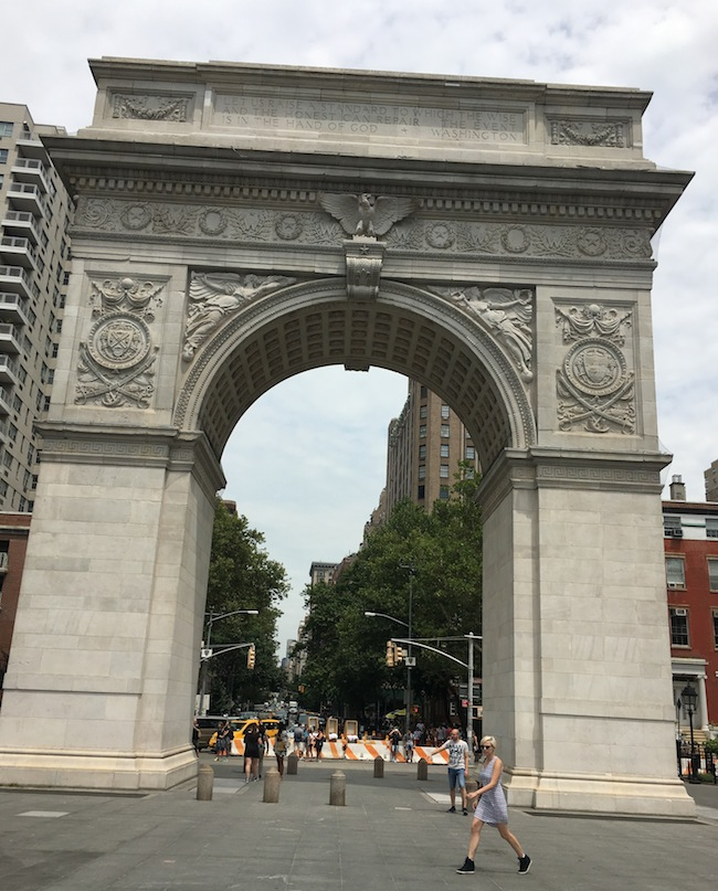 arch washington square park summer new york city