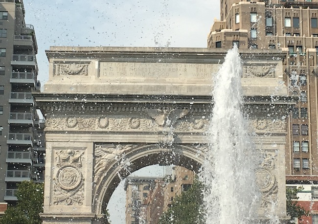 The Arch George Washington quote Washington Square Park