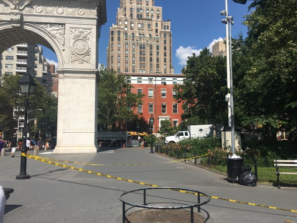 Washington Square Park Arch missing tree