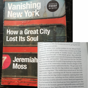 Vanishing NY Book Covers Washington Square Park Controversies Including Moving of Fountain, Hot Dog Vendors, Chronicled at this Blog
