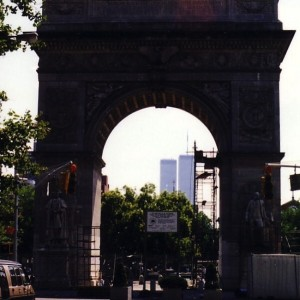 Washington Square Arch View of Twin Towers Prior to 9/11
