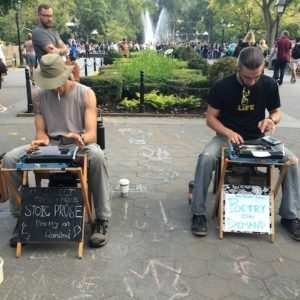 "Old-School ""Poetry on Demand"" at Washington Square Park"