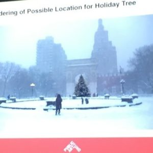 "Amid ""Fences"" Controversy, Washington Square Christmas Tree Arrives Nov. 27 in New Location"