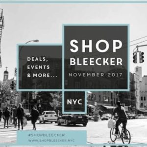 Shop Bleecker Street on November 18th | Aiming to Halt the Proliferation of Vacant Storefronts on Strip