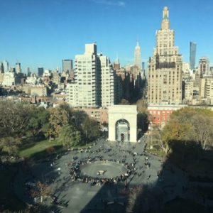 View from 'Above' of Washington Square Park Fall 2017