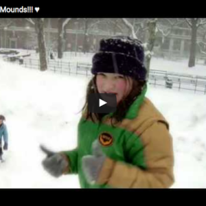 "When the Washington Square Park Mounds had Sledding: ""Merry Mounds"" Video – A Holiday Annual Must-Watch"