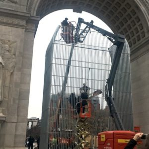 "The Arch as We Know It Returned | Ai Weiwei's ""Good Fences"" De-Installation (Photos)"