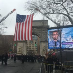 "Ceremony Held in Washington Square Park for NYC Firefighter Christopher ""Tripp"" Zanetis Who Died in Iraq"