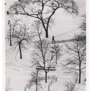 Snowy Day Throwback – André Kertész: Washington Square, Winter, 1954
