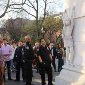 "Washington Square Park's ""Living Statue"" Arrested for Performance on Arch"
