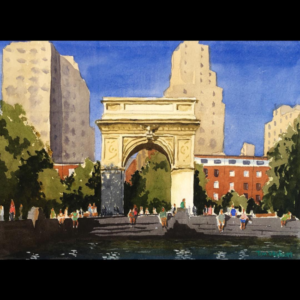 Washington Square Park Illustrated Present Day